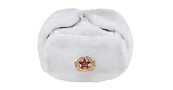 Amazon.com: Ruso/URSS Invierno Ushanka sombrero de piel ...