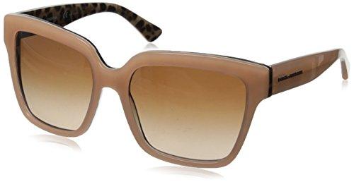 D&G Dolce & Gabbana Women's 0DG4234 Square Sunglasses,Top Opal Pink/Leopard,57 - Sunglasses D&g Pink