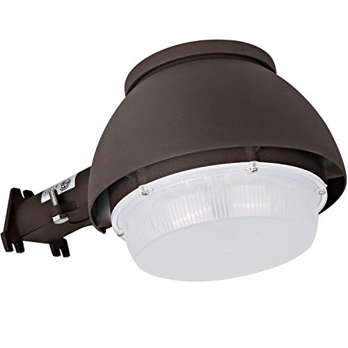 (Hykolity LED Barn Light 40W, 4400lm Dusk to Dawn Yard Light with Photocell, Outdoor Security/Area Light, 5000K Daylight, 150W-300W MH/HPS Replacement, Bronze Finish, ETL Listed & DLC)