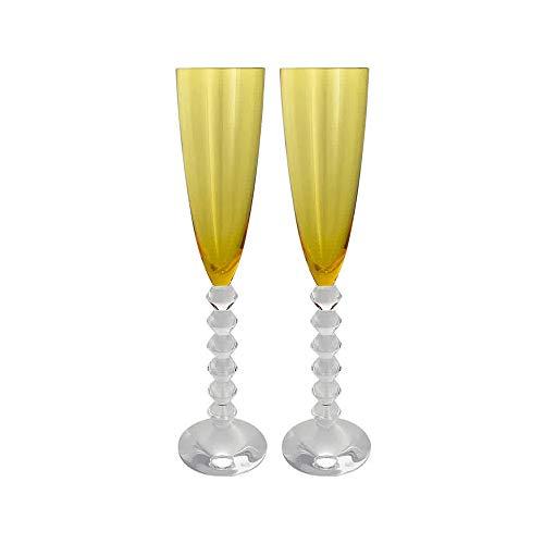 Baccarat Crystal Véga Flutissimo Flute - Amber - Set of 2 (Champagne Vega Flute Baccarat)