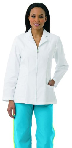 Zipper Front Lab Coat - 6