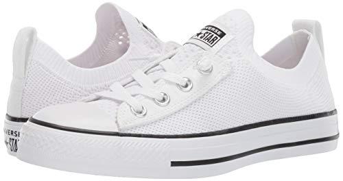 04e829321233c Converse Women's Chuck Taylor All Star Shoreline Knit Slip On Sneaker,  Black/White, 6 M US