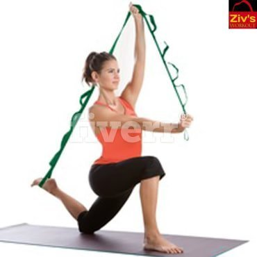 Ziv'sworkout Elastic Stretching Resistance Band, 11 Flexible Loops with Head Band