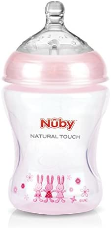 Nuby Natural Touch Medium Flow Teats SoftFlex Breast-like Pack of 2