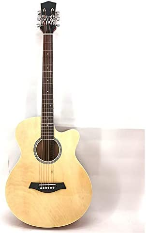 キッズアコースティックギター 明るい全サイプレス初心者はアコースティックギターマット標準機器入門します 学習者のためのクラシックギター (色 : Natural, Size : 41 inches)