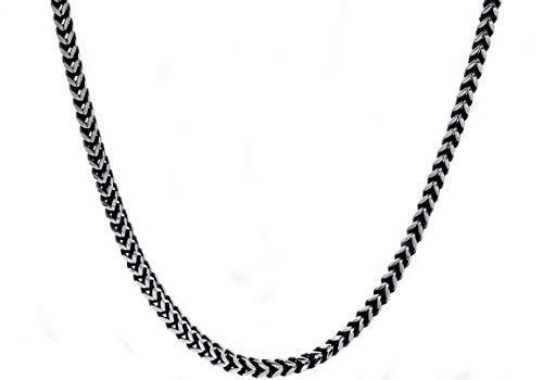 Blackjack Jewelry Men's 4mm Stainless Steel Franco Link 24
