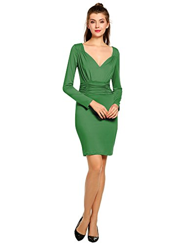 ANGVNS Sleeve Stretch Bodycon Cocktail
