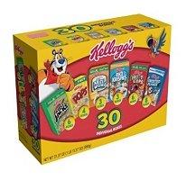 Kellogg\'s Cereal Jumbo Variety Pack, 31.37 oz, 30 Pack