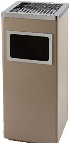 ZXPzZ 収納ゴミ箱ステンレス鋼屋外環境に優しいゴミ箱モール企業垂直灰皿ゴミ箱大屋外リサイクルビン-12 L -廃棄物収集シリーズ (色 : Gray)