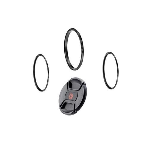 Xume Lens Adapter 49mm - Bundle - with Two (2) 49mm Filter Holders, Breakthrough Photography 49mm Center-Pinch Lens Cap