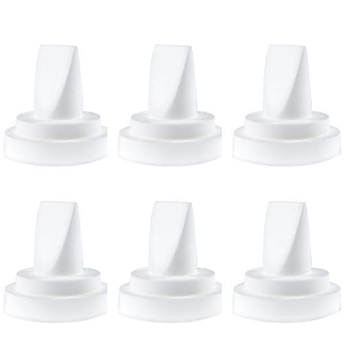 Nenesupply 6 pc Compatible Duckbill Valves for Medela and Spectra S1 Accessories Spectra S2 and Medela Pump in Style Not Original Spectra Pump Parts Replace Spectra Duckbill Valves and Medela Valve