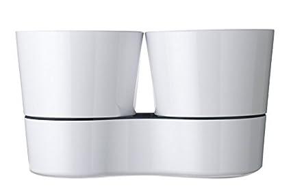 grey 13.7 x 22 cm MEPAL Hydro Herbs Herb Pot Twin Plastic 1/Unit Plastic 13.7/x 22/cm