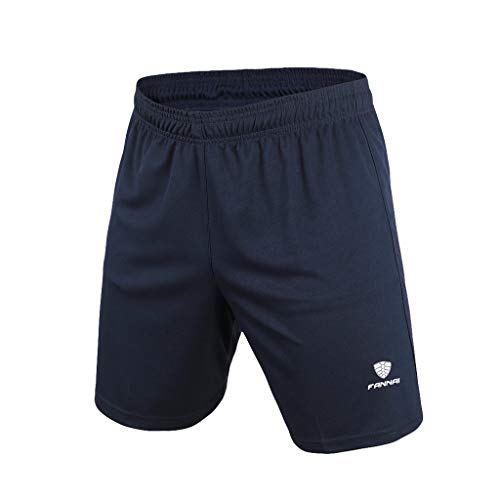 NUWFOR Men's New Kind Men's Sports Shorts Running Shorts Pure Breathable Sports Short(Navy,US:M/AS:XXXL ()