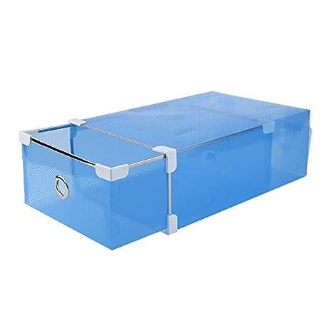 fghfhfgjdfj Practical Half Transparent Drawer Style Shoe Box For Both Men and Women DIY Shoe Box Shoes Storage Box Organizer