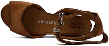 A.S 98 A15004 - Sandalias de mujer de piel auténtica con tacón bajo