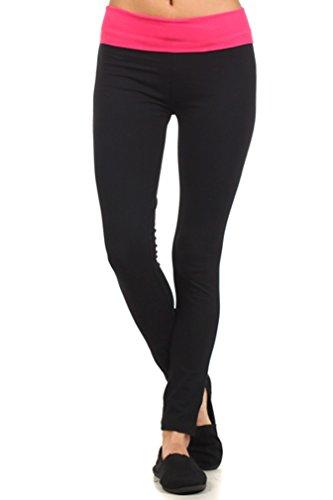 Yoga Products : Mopas Womens Comfort Waist Colorblock Yoga Pants