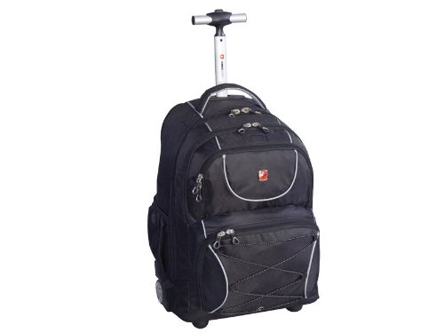 Swiss Gear Wheeled Laptop Backpack Fits Most F/15.6in Laptops (vf ...
