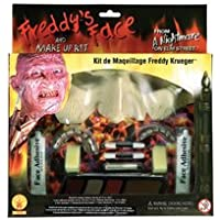 Disfraz de Rubie Una pesadilla en Elm Street Kit de maquillaje de Freddy Krueger, marrón, talla única