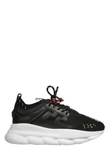 Collection Sneakers Nero Poliestere Dsu7071ed9tvgd41h1 Versace Uomo SqdCC