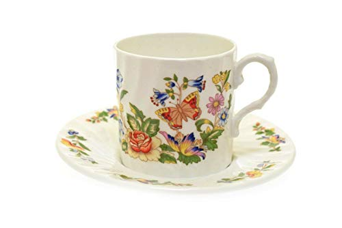 Aynsley Cottage Garden Flat Demitasse Cup & Saucer (Demitasse Cup Only Flat)