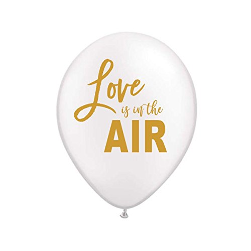 (White Love is in the Air Balloons, Love is in the Air Balloons, Love is in the Air, Engagement Party Decoration, Bridal Shower Decoration, Valentine's Day Balloons, (Set of 3))