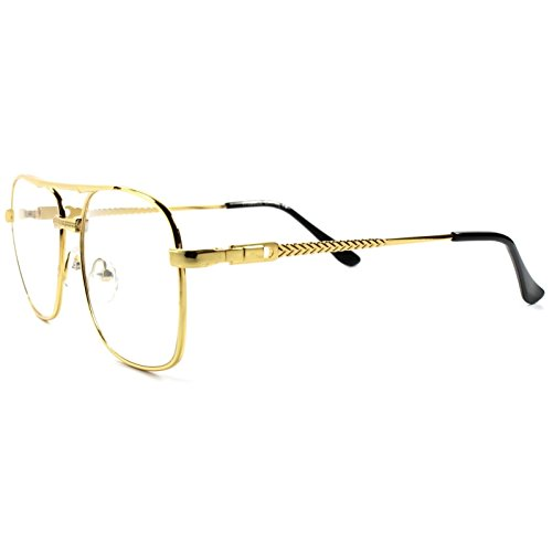 Old School Retro Style Hip Hop Mens Womens Nerdy Lens Square - Glasses Hip Hop School Old
