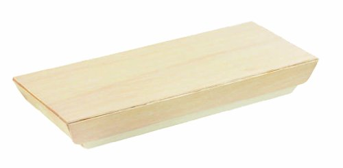 PacknWood Wooden Lid for 8.4'' x 3.3'' Rectangular Wooden Tray (Case of 100) by PacknWood (Image #1)