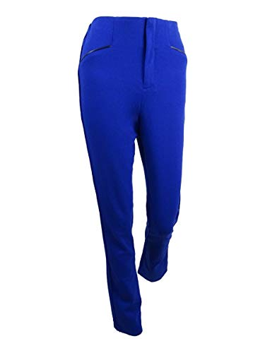 INC Womens Faux Trim Regular Fit Straight Leg Pants Blue 6 from INC International Concepts