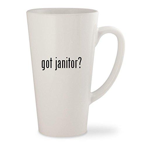 got janitor? - White 17oz Ceramic Latte Mug (Funny Janitor Costumes)