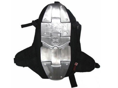 TMS Aluminum Armor Motorcycle Rider Backpack Bag Back Spine Protector