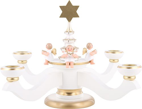 World of Light Candle holder advent white - 20,0 cm / 8 inch - Christian Ulbricht by Christian Ulbricht