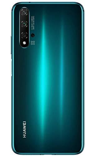 """Huawei Nova 5T (128GB, 8GB) 6.26"""" LCD, Kirin 980, 48MP Quad Camera, 22.5W Fast Charge, Dual SIM GSM Unlocked Global 4G LTE International Model YAL-L21 (Green)"""