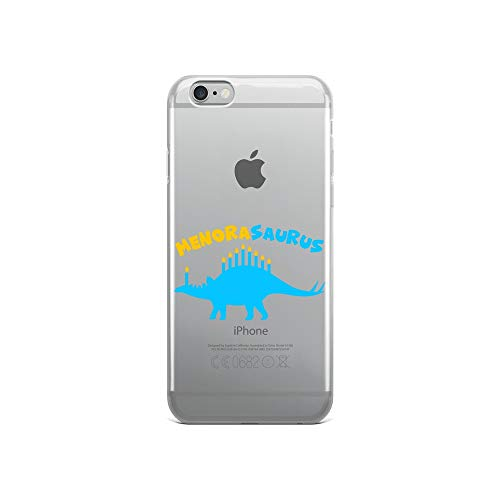 (iPhone 6/6s Pure Clear Case Transparent Cases Cover Funny Hanukkah Dinosaur Stegosaurus Dino Menorah Gift Crystal Clear)