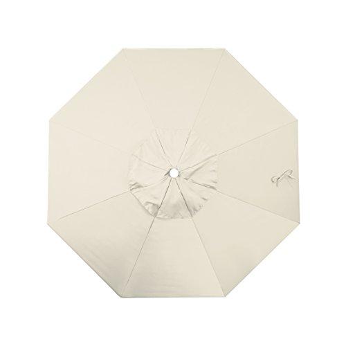 (California Umbrella Replacement Canopy Cover in Antique Beige Olefin Umbrella, 9' Round )