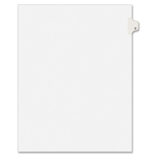 Discount Avery Individual Legal Exhibit Dividers, Allstate Style, C, Side Tab, 8.5 x 11 inches, Pack of 25 (82165) supplier