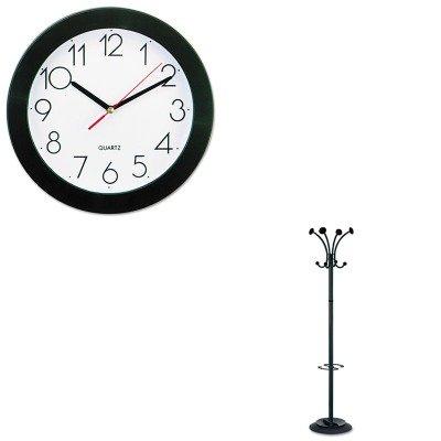 KITABAPMVIENANUNV10421 - Value Kit - Alba Stily Coat Rack (ABAPMVIENAN) and Universal Round Wall Clock ()