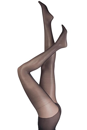 Pretty Polly Ladies 1 Pair Naturals 8 Denier Sandal Toe Tights Extra Large Black (Sheer Pretty Polly)