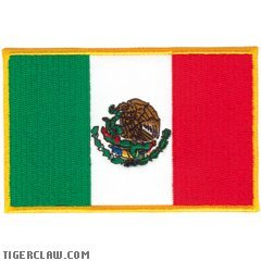 Tiger Claw Mexican Flag Patch