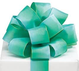 """Light Green Watercolor Satin Wired #9 Ribbon 1.5"""" X 20 Yards"""