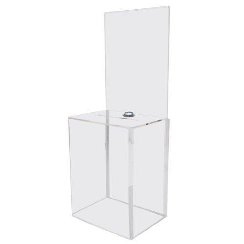 My Charity Boxes-Contenitore per donazioni confezione con Display grande con scatola Area in materiale acrilico suggerimenti turno