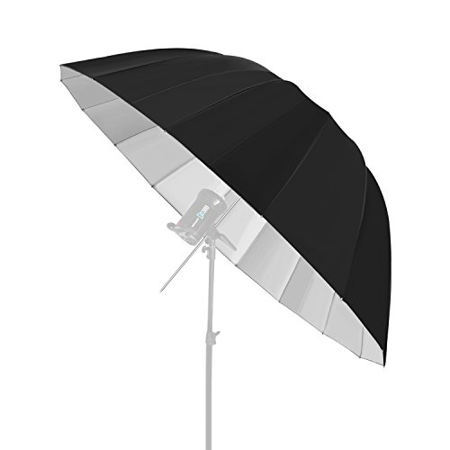 Neewer Photography Deep Black/Sliver Umbrella Reflector - Light Diffuser and Modifier for Monolight Flash for Photo Studio Shooting (Hexadecagon with 65 inches/165.1 centimeters Diameter) from Neewer