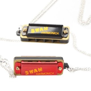 [2 Pcs Swan Necklace Style Mini Harmonica 4 Hole 8 Tone Red and Black by Completestore] (Chess Player Costume)