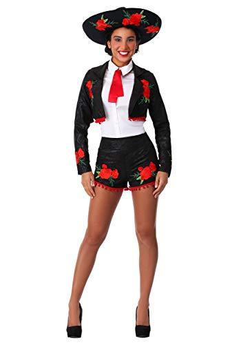 Flirty Mariachi Women's Costume Small Black ()