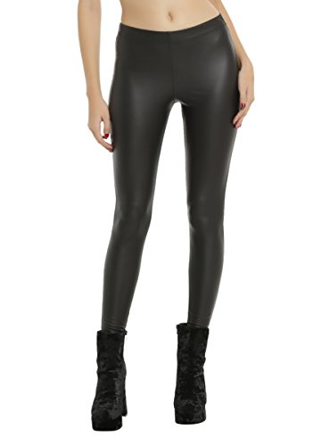Hot Topic Black Leather Leggings