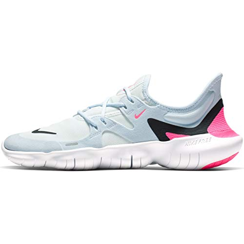 Nike Free RN 5.0 Women's Running Shoe White/Black-Half Blue-Hyper Pink 8.5
