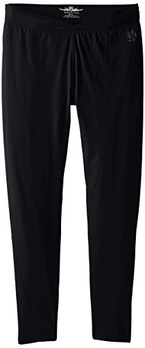 SnowAngel Women's Veluxe Signature V-Waist Leggings, Black, - Wool Doeskin