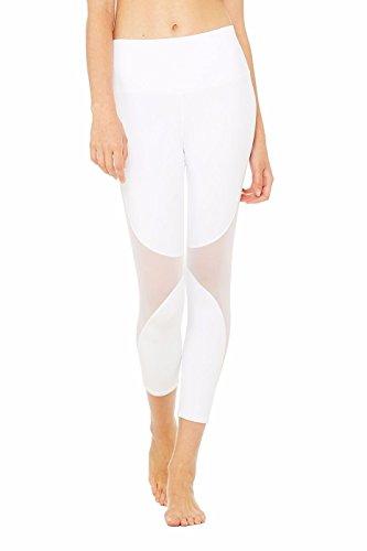 SEASUM Women Yoga Capris Mesh Joggers Workout Running Pants Pilate Tights Fitness Compression Leggings Stretch L]()