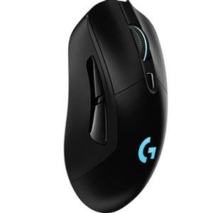 Logitech G703 LIGHTSPEED Wireless Gaming Mouse, Ergonomically Designed, RGB Lighting, 12,000 DPI w/ no Smoothing, 10g Removable