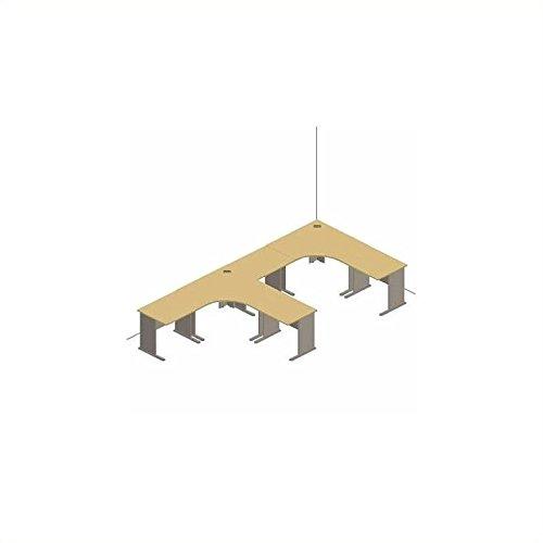 [Bush Furniture Advantage Series Cubicle Office Set in Light Oak] (Series Cubicle Office Set)