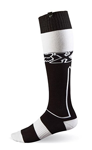 Fox Racing Fri Imperial Thick Men's MX Motorcycle Socks - Black/White/Small (Road Fox Boot Racing)